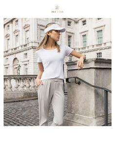The most comfortable uniform – loved by many women around the world. Office Looks, Summer Looks, Neck T Shirt, Fashion Brand, Editorial Fashion, Classy, Zurich, Switzerland, Activewear