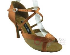 Natural Spin Signature Latin Shoes(Open Toe):  H1168-02_DrTanS