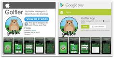 ATTENTION #golfers GOLFLER is available for #iOS & #Android download from the App Store & Google Play!  #Golf #FreeApp