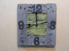 Rustic Reclaimed wood clock pallet wood clock green
