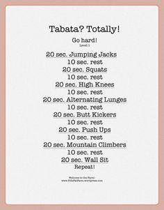 Tabata training | Fifi's Fat Farm