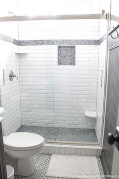 47 Ideas Bathroom Shower Tile Design Powder Rooms For 2019 Small Bathroom Colors, Bathroom Layout, Bathroom Ideas, Shower Ideas, Guest Bathroom Remodel, Bathroom Renovations, Shower Remodel, Bathroom Partitions, Window In Shower