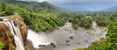 Tourists go crazy as they see the milky white falls and enjoying the cool breeze and the chilled water droplets splashing from the falls