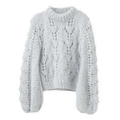 Lyseblå, Ganni faucher genser, 4199kr