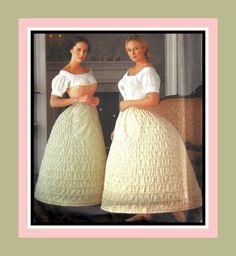 Civil War Era-Ladies Authentic Hoopskirts-Historical Sewing Pattern in Two Widths-Steel Hoop Boning-Flat Front Panel-Size-14-20-Uncut-Rare by FarfallaDesignStudio on Etsy