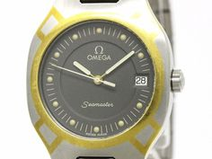 #OMEGA Seamaster Polaris 18K Gold Steel Quartz Mens Watch 396.1022 (BF103352): #eLADY global offers free shipping worldwide. For more pre-owned luxury brand items, visit http://global.elady.com