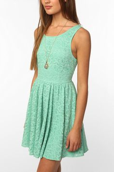 sea-foam lace dress