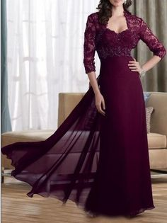 Chiffon Mother of the bride dress plus size scale by MALLECNDRESS, $139.00