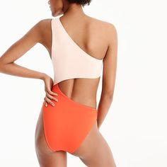 J.Crew Playa colorblock Tilden cutout one-piece swimsuit