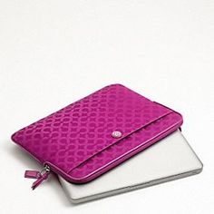 For Melissa's new Ipad.--Pink Coach laptop case... both cute AND sophisticated!