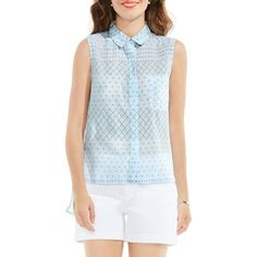 a75c00ae00faf4 Women s Two By Vince Camuto Sleeveless High low Shirt ( 89) ❤ liked on