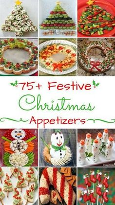 75 Festive Christmas Appetizers - Ideas to use for the holiday get togethers with family and friends. Bring one of these creative appetizers to your Christmas party! These Christmas appetizers include dips, spreads, finger foods and much more. Christmas Apps, Christmas Party Food, Xmas Food, Christmas Brunch, Christmas Cooking, Christmas Goodies, Christmas Desserts, Holiday Treats, Christmas Holidays