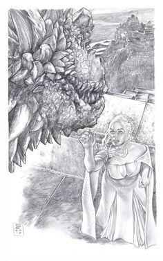 Daenerys and Drogon by Gene Espy