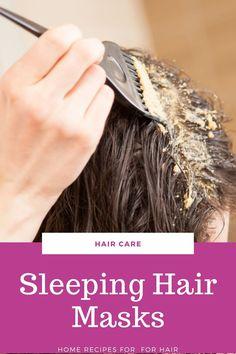 Hair Mask For Dandruff, Overnight Hair Mask, Sleep Hairstyles, Home Remedies For Hair, Healthy Sleep, Hair Hacks, Hair Tips, Hair Growth, Your Hair