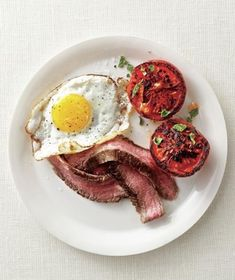 Get the easy, delicious recipe for Steak and Eggs With Seared Tomatoes.