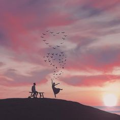 Valentine's Day is in less than a week! - Brett Photo by by expofilm Cute Wallpaper Backgrounds, Love Wallpaper, Cute Wallpapers, Creative Photography, Nature Photography, Silhouette Photography, Love Illustration, Anime Scenery, Jolie Photo