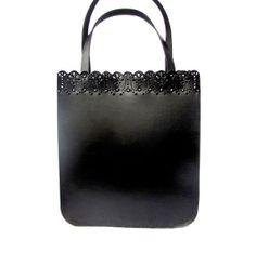 Leather tote bag, Black womens bag, Shopping bag, Laptop bag, MADE TO ORDER