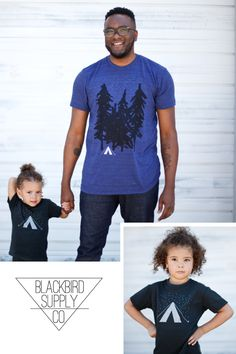 We believe wanderlust runs in the family, and if you\'re lucky enough to inherit a sense of adventure, that\'s worth celebrating this Father\'s Day. Show dad some love with our new Starry Night matching t-shirt set. Perfect for a father-son or father-daughter pair, it features our original Yosemite camping scene on the dad\'s shirt and complimentary camping tent on the kid\'s tee. Find this and other Father\'s Day gift ideas in our Etsy shop.