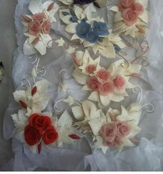Cold porcelain garland attachments can be added to jewellery boxes, cabinets etc