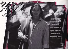 Actor/director  Pato Hoffmann. Calendar (1998) for charity. With his dedication and signature. Photographed by Sara Humes.