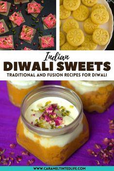 Easy Diwali sweets recipes - Try these easy Indian sweets recipes for Diwali. #vegetarian #indiansweets #mithai #diwali #vegan #eggless #saffron #peda #kheer #badam #gajar #halwa #gajrela Indian Recipes For Kids, Healthy Indian Recipes, Indian Dessert Recipes, Indian Sweets, Sweets Recipes, Low Calorie Vegetarian Recipes, Summer Vegetarian Recipes, Vegan Recipes Easy, Sweet Desserts