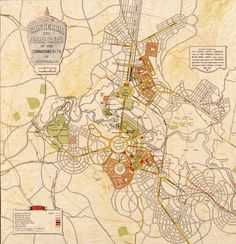 Plan of Canberra Australia (1927) | Walter Burley Griffin and Marion Mahony Griffin