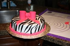 Zebra cake for a teenage girl birthday
