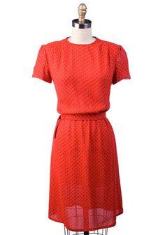 Vintage Winter Roses Dress, #ModCloth