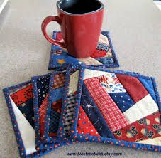 quilted coasters pattern free - Google Search