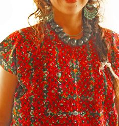 Camino de flores Mexican Huipil embroidered blouse