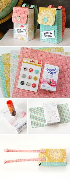 Backpack Gift Box | Click Pic for 23 DIY Back to School Gifts for Teacher | Handmade Gifts for School Students