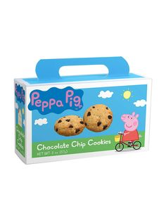 Peppa Pig Chocolate Chip Cookies 2oz Box - Other Favors & Individual Party Supplies