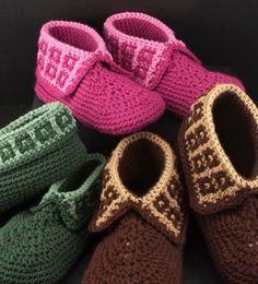 Crochet Slippers Pattern: Family Slippers for men, women and children, PDF download