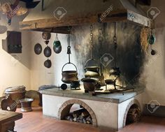 Ancient Kitchen (Kyburg Castle, Switzerland) Stock Photo, Picture And Royalty Fr. Ancient Kitchen (Kyburg Castle, Switzerland) Stock Photo, Picture And Royalty Free Image. Medieval Recipes, Ancient Recipes, Medieval Life, Medieval Castle, Old Kitchen, Foyers, Diy Home Decor, Kitchen Design, Interior Design