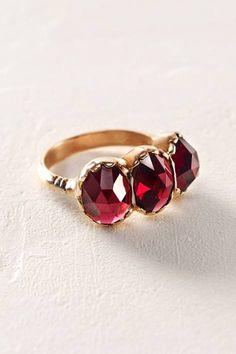 Ruby Trinity Ring by Arik Kastan   Pinned by topista.com