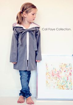 Raglan Hooded Coat PDF pattern and tutorial - size 2t-5t childrens sewing PATTERN. $8.99, via Etsy.