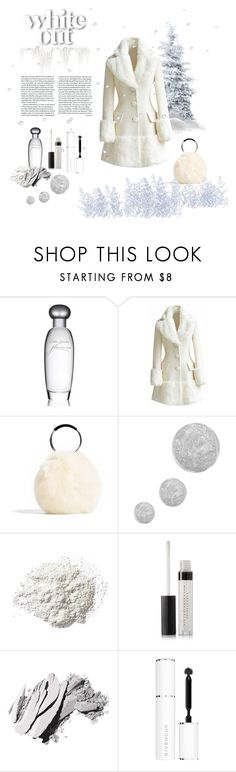 """""""White Out"""" by amelia-carnero ❤ liked on Polyvore featuring Estée Lauder, Topshop, Ilia, Bobbi Brown Cosmetics, Givenchy, Winter, white, coat and fauxfur"""