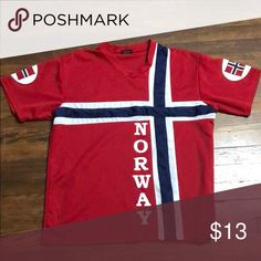 Norway shirt Great condition nord suvenir Shirts Tees - Short Sleeve Norway, Tee Shirts, Best Deals, T Shirts, Tees