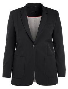 Een zakelijke blazer die uw hoge normen van comfort en stijl vertegenwoordigt! Figuurlijke 1-knoop stijl met revers, borst paspelzak, split op de rug ...
