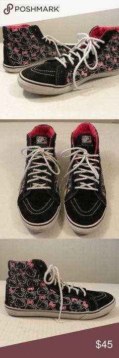 c544330d85a869 Vans Hello Kitty High Top Black Red Women 10 M Vans Hello Kitty High Top  Sneakers