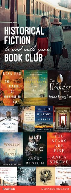18 Historical Fiction Novels to Read with Your Book Club 18 history books to read for book clubs, including historical fiction. These historical fiction novels are worth a read. Book Club Reads, Book Club Books, Book Lists, Book Clubs, Good Books, My Books, Reading Lists, Reading Books, Teen Books