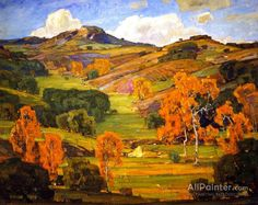 William Wendt Autumn Sycamores oil painting reproductions for sale