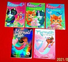 5 Purrmaids Mermaids Chapter Books Grades 1st 2nd 3rd Readers Level 2-3 Teachers