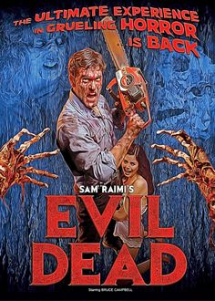 Hand-crafted metal posters designed by talented artists. 80s Movie Posters, Horror Posters, Movie Poster Art, All Horror Movies, Horror Films, Scary Movies, Evil Dead 1981, Ash Evil Dead, Bruce Campbell Evil Dead
