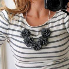 pom pom bib necklace