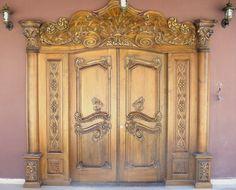 wood art door ahşap kapı