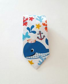 Etsy listing at https://www.etsy.com/listing/288396953/nautical-collection-clip-on-necktie-boys