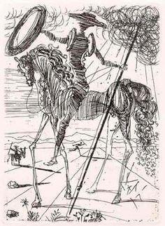 Salvator Dali, Don Quixote de la Mancha 1957