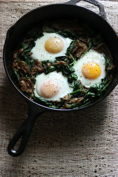 Power greens breakfast skillet by @According to Elle | Elle Penner MPH RD