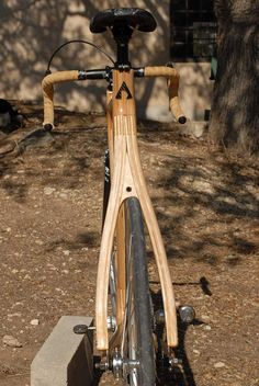 Alan Downey's own Wooden Bicycle